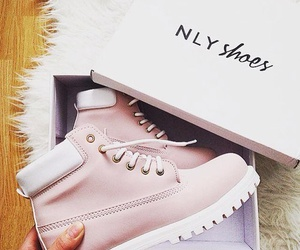 shoes, pink, and boots image