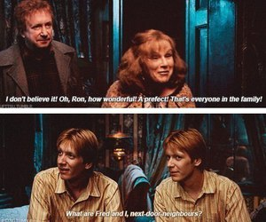 harry potter, funny, and weasley image