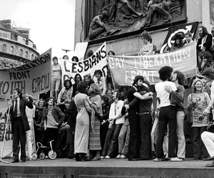 gay, protest, and love image