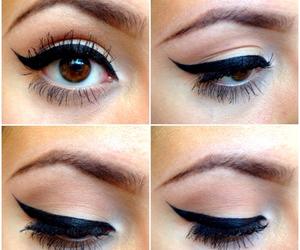 makeup, eyes, and mac image