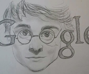 harry potter, google, and drawing image