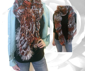 winter scarves, chunky scarves, and handmade scarves image