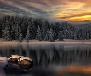 winter, beautiful, and lake image
