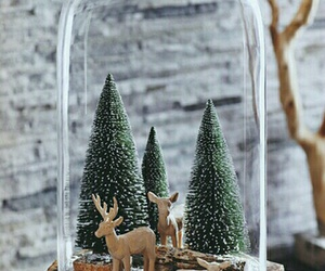 christmas, winter, and deer image