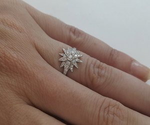 cocktail ring, diamond ring, and etsy image