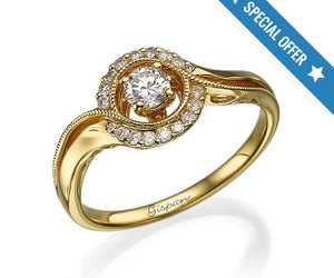 diamond ring, etsy, and gold ring image