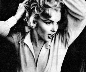 black and white, marilyn, and icon of style image