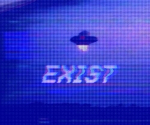 alien, exist, and grunge image