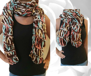 etsy, brown scarf, and fashion image