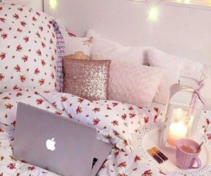 bedroom, relax, and girl image