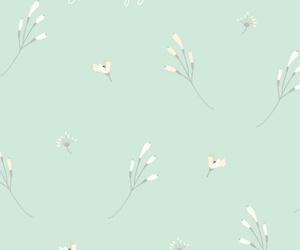 flowers, minimalist, and mint image