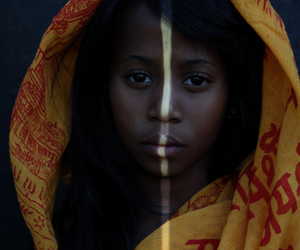 African woman, gorgeous, and red image