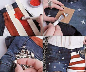 shorts, diy, and usa image
