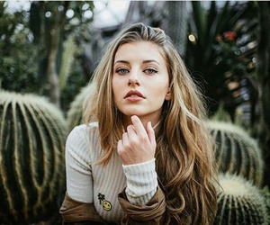 girl, beauty, and cactus image