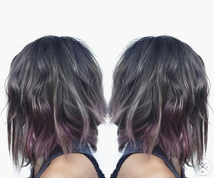 cool hair, pastels, and gray image