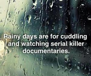 rainy day, serial killer, and rain image