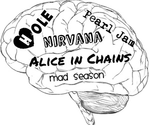 90s, alice in chains, and bands image
