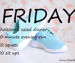 workout, friday, and fitness image
