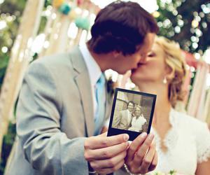 kiss, vintage, and wedding image