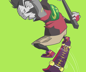 anime, cartoon, and skater image