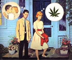 blazed, girls, and kiss image