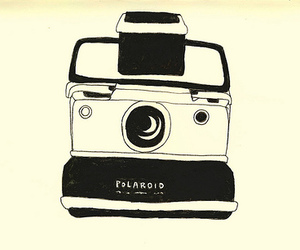 camera, polaroid, and drawing image