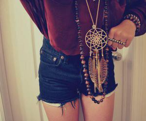 fashion, shorts, and necklace image