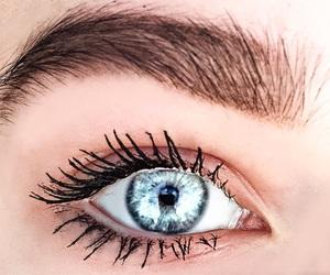 eye, blue, and beauty image