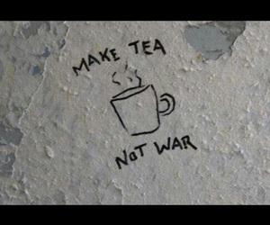 peace, tea, and war image