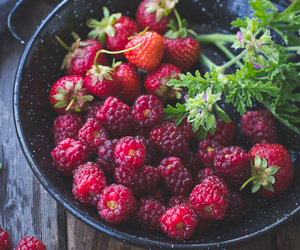 berries, food, and strawberry image