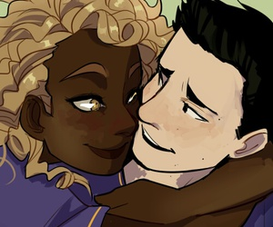 heroes of olympus, hazel levesque, and frank zhang image