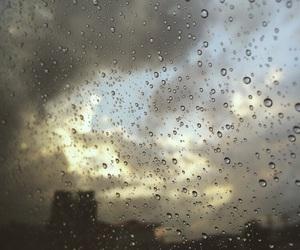 clouds, rain, and sky image