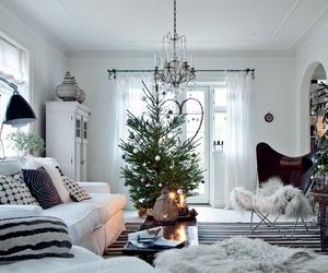 christmas, home, and white image