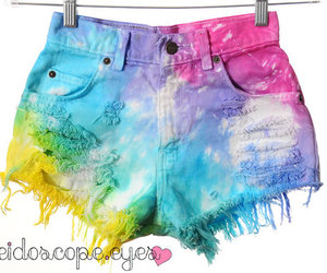 cut offs, clothing, and colorful image