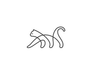 cat, art, and white image