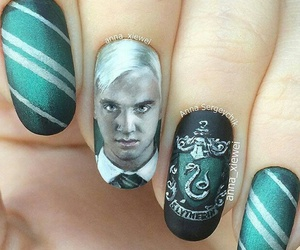 harry potter, nails, and draco malfoy image