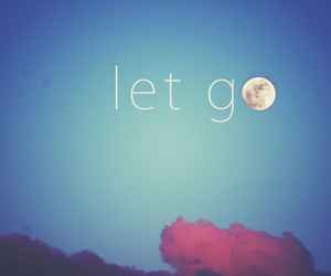 moon, let go, and sky image
