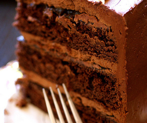 cute, chocolate cake, and dessert image