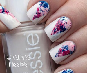 nails, essie, and white image