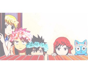 anime, flowers, and gray image
