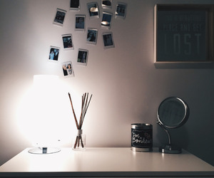 desk and polaroid image