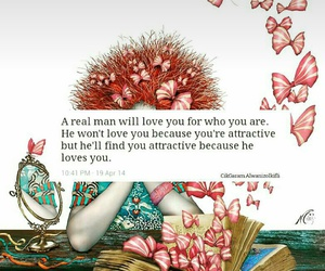 qoute, real man, and women image