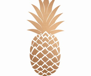 gold, pineapple, and wallpaper image