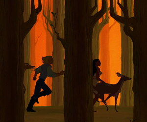 disney, forest, and john smith image