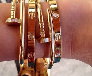 fashion, gold, and cartier image