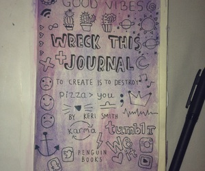 art, wreck this journal, and tumblr girl image