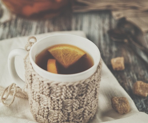 tea, lemon, and winter image
