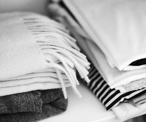 black and white, closet, and clothes image