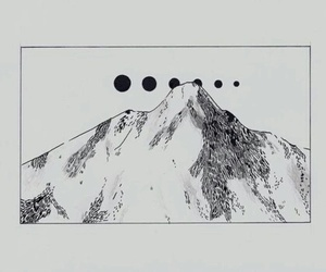 mountains, drawing, and art image