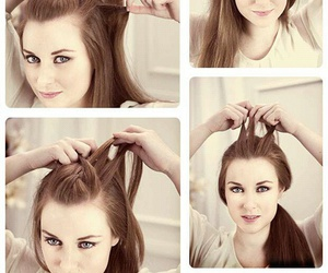 diy, hairstyle, and ponytail image